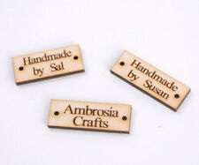 Wooden Personalised Handmade tags Hand Knitted Crochet Tags Mini Label Tag