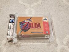 "Legend of Zelda Ocarina of Time Gold Collectors Edition Sealed WATA ""A"" 6.0 N64"
