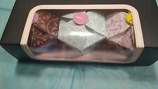 Affinitas Cupcake Panty Thong One Size Cotton  Lace Waist Bakers Box of 3