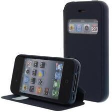 similicuir Pochette pour téléphone cellulaire Pour Apple iPhone 4S/4G Bleu