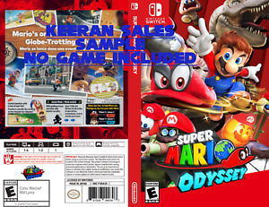 Super Mario Odyssey replacement case, Nintendo Switch Custom NO GAME INCLUDED
