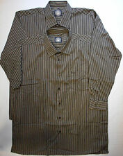 Collared Unbranded No Striped Casual Shirts & Tops for Men
