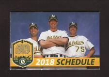 Oakland Athletics--2018 Pocket Schedule--Cache Creek Casino--Hudson/Mulder/Zito