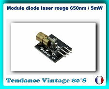 *** MODULE DIODE LASER ROUGE 650NM / 5VDC / 5MW  / ARDUINO  ***