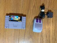 Mario Paint (Super Nintendo Entertainment System, SNES) W/ Nintendo Mouse!!