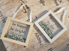 Cute Sequin Filled Box Frames & Slogans Hanging Pictures Decorative Frames