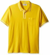 Camicie casual e maglie da uomo gialli in cotone con colletto