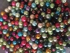 100 Mezclado Color Perlas de Cristal 6mm. fabricación De Joyas, Artesanías