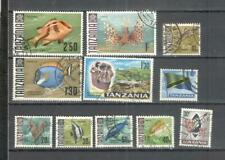 S8821 - TANZANIA 1965 - LOTTO 10 TEMATICI DIFFERENTI - VEDI FOTO