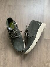 New Timberland Boys Green Suede Leather Ankle Boots Shoes Size UK 1.5 EU 34