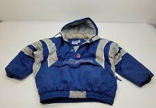 Vintage Starter NFL Pro Line Dallas Cowboys Puffer Pullover Jacket Blue Large