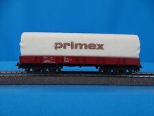 "PRIMEX 4554 Four Axled Flat car with Canvas ""PRIMEX"""