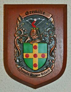 Grenville plaque shield crest coat of arms