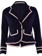 Ladies Women Military Blazer  Nautical Long Sleeve Button Slim Coat Top Jacket