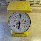 Vtg+Scale+American+Family+Kitchen+Counter+Meats+Vegetables+25+Lb+Canning+Yellow