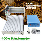 USB 4 Axis 3040 CNC Router Drilling Machine 400W DIY Engraver Cutter USB Port+RC