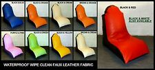 XL  ADULT FAUX LEATHER BEANBAG COMPUTER GAMING CHAIR bean bag WIPE CLEAN FABRIC