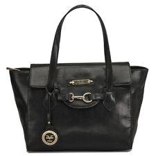 New Versace 19V69 Italia Signature Nicoletta Black Faux Leather Stingray Tote