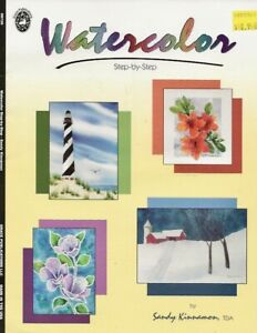 REDUCED! Watercolor Painting Instruction Booklet - Sandy Kinnamon, TDA