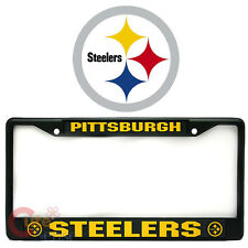 pittsburgh steelers car auto license plate frame metal black