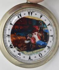 Antique Cyma pocket watch for Ottoman/Oriental market.Fancy erotic dial.50mm
