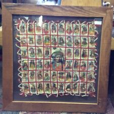 Framed Vintage 57 Native American Chief Tobacco Silks Hand Stitched Pillowcase