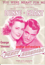 """PENNY SERENADE Sheet Music """"You Were Meant For Me"""" Cary Grant Irene Dunne"""