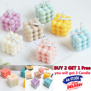 Cube Candle Bubble Candle Soy Candle Beeswax Candle Home Decor Gifts BUY 2 GET 1