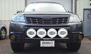 Fits 2009-2013 Subaru Forester RALLY LIGHT BAR(Bull Bar,Nudge Bar),4 Light Tabs!