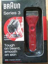 ++ NEU BRAUN Series 3 340r-4 Rasierer Wet&Dry Shaver MADE IN GERMANY OVP RED ++