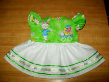 """EASTER BUNNY RABBIT EGGS DRESS SUNDRESS W/ RUFFLES for 16-18"""" CPK Cabbage Patch"""