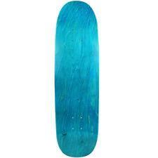 """Old School Skateboard Deck 8.75"""" x 32.1"""" Blue Blunt Nose Popsicle Shape"""