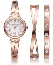 Timothy Stone Women's 'Legato' Crystal Set Rose Gold Watch & Bracelet Gift Set