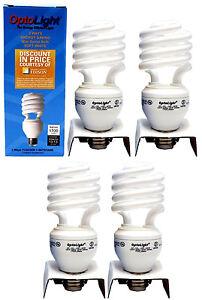 4x Soft White Energy Saving Mini Spiral Bulb 3 Way 11/20/26W = 50/75/100W E26