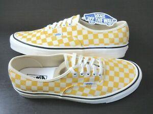 Vans Men's Authentic 44 Dx Anaheim Factory OG Yellow White Canvas shoes Sz 11
