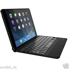 Zagg ZAGGkeys Folio Case Cover Keyboard Apple iPad Air 2 Backlit - Black NEW