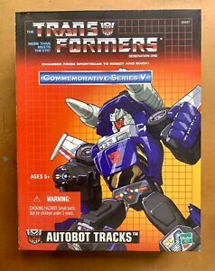 Transformers commemorative Series V AUTOBOT TRACKS G1 Re-Issue in Box
