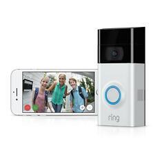 Ring Wireless Video Doorbell 2 1080P Hd Motion 2-Way Talk Smart Door Bell Camera