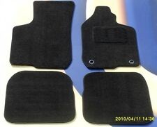 RENAULT MEGANE SPORTS TOURER MK3 2009 - now BLACK CARPET CAR MATS WITH CLIPS