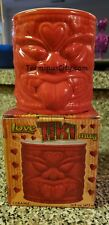 Large Tiki Love Mug 16oz red heart hearts bar hula party luau rockabilly skull