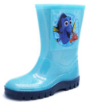 KIDS CHILDRENS BLUE DORY WELLIES WELLINGTON RAIN SPLASH BOOTS INFANT SIZES 4-8