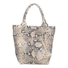 Tasche Handtasche Echt Leder Shopper Kroko Schlangen Optik NEU Reptil Design