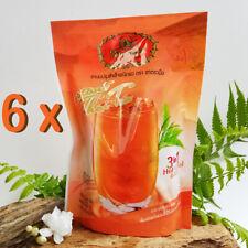 6x Instant Thai Tea 3 In 1 Milk Tea Powder Hot Cool Drink Beverage 20G.x5Sachet