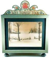 Wee Forest Folk Display Case - Green with 2 Back Drops