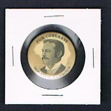 RARE William Barbour boxing pinback button Jack Dempsey Jess Willard Congress