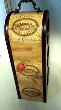 Chambertin Teau Conseill Wine Rack promotional wooden Vintage