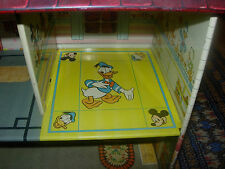 Marx Disney Tin Litho Dollhouse C. 1950'S Donald Duck Vintage