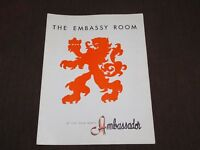 VINTAGE OLD DINING THE EMBASSY ROOM PALM BEACH AMBASSADOR  MENU