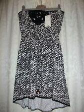 BLACK & White Print Dress Size 12 Pavoni