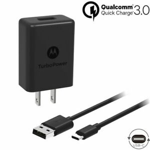 Motorola SPN5970A Turbo Power 15+ QC3.0 Wall Charger, 3.3 Ft Type C Cable
